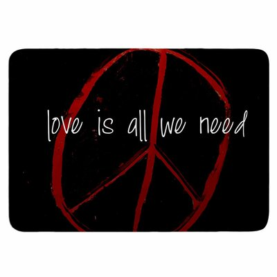 Love Is All We Need by Robin Dickinson Memory Foam Bath Mat Size: 36 L x 24 W