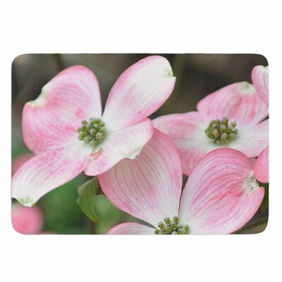Spring Flowering Dogwood by Jennifer Rizzo Memory Foam Bath Mat Size: 24 L x 17 W