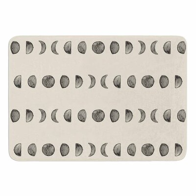 Phases of The Moon Memory Foam Bath Mat Size: 24 L x 17 W