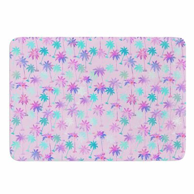 Palm Tree Pattern by Marta Olga Klara Memory Foam Bath Mat Size: 24 L x 17 W