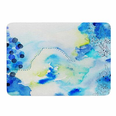 Deep Blue Sea by Li Zamperini Memory Foam Bath Mat Size: 36 L x 24 W