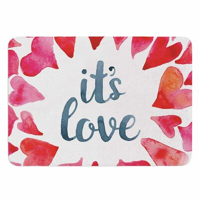 Its Love Memory Foam Bath Mat Size: 36 L x 24 W