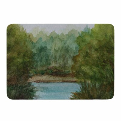 Blue Lake Channel by Cyndi Steen Memory Foam Bath Mat Size: 24 L x 17 W