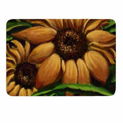 Sunflower Days by Cyndi Steen Memory Foam Bath Mat Size: 24 L x 17 W