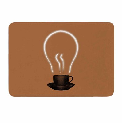 The Power of Coffee by Digital Carbine Memory Foam Bath Mat Size: 36 L x 24 W