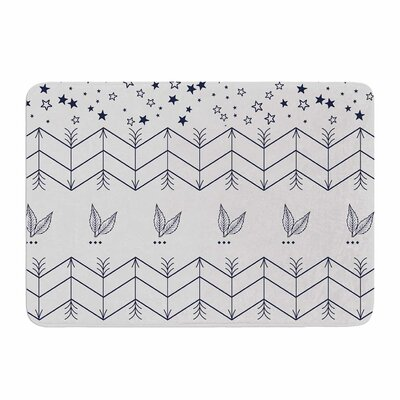 Tribal Arrows Jungle Stars by Famenxt Memory Foam Bath Mat Size: 24 L x 17 W