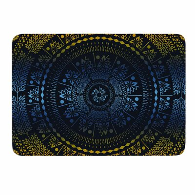 Night Queen Boho Mandala by Famenxt Memory Foam Bath Mat Size: 24 L x 17 W