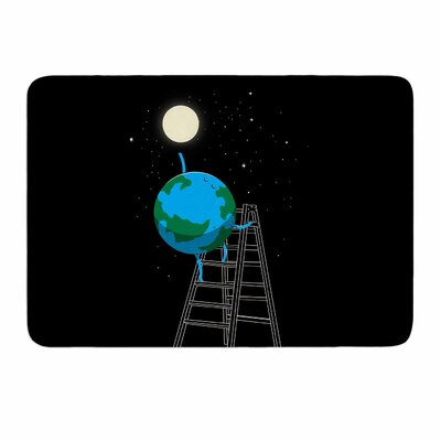 Reach The Moon by Digital Carbine Memory Foam Bath Mat Size: 36 L x 24 W