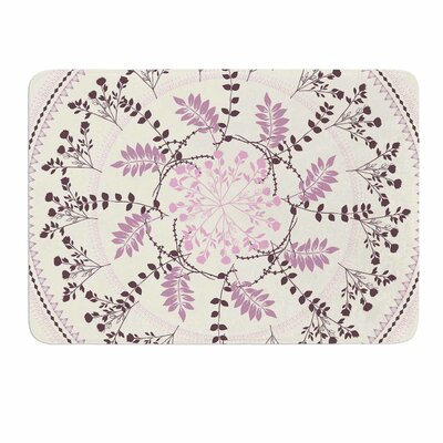 Pinkish Madellion by Famenxt Memory Foam Bath Mat Size: 24 L x 17 W