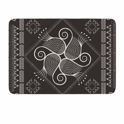 Paisley Into The Dreams Dark by Famenxt Memory Foam Bath Mat Size: 24 L x 17 W