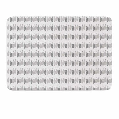 Feathers by Petit Griffin Memory Foam Bath Mat Size: 24 L x 17 W
