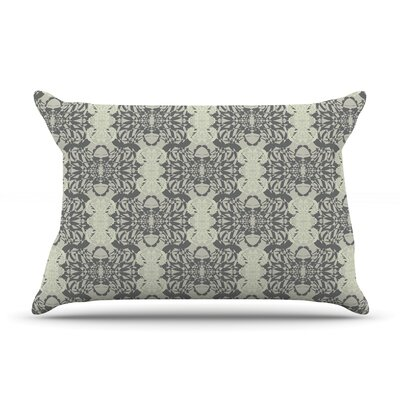 Illusion Damask Silver by Mydeas Woven Sham Size: 20 H x 30 D