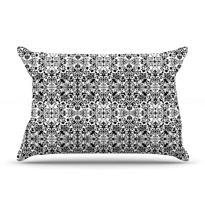 Fancy Damask & White by Mydeas Gray Woven Sham Size: 20 H x 30 D