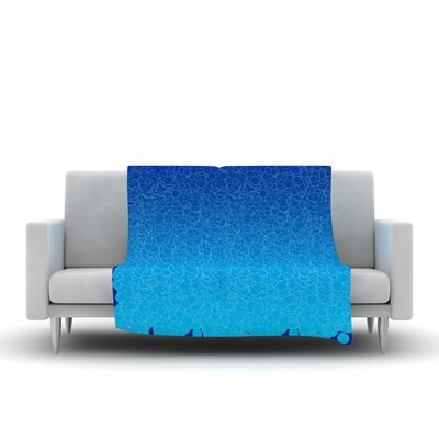 Bubbling Frederic Levy Hadida Fleece Blanket Color: Blue