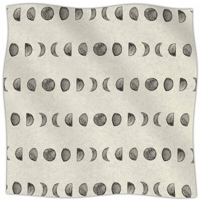 Phases of The Moon Fleece Throw Blanket Size: 90 L x 90 W