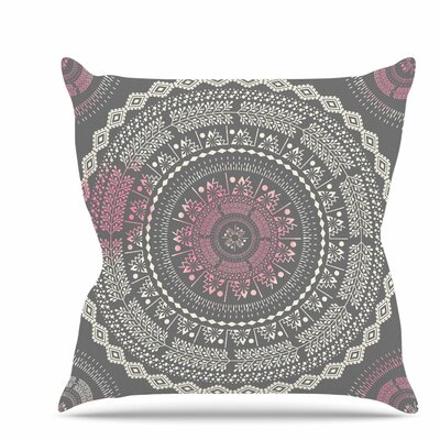 Culture Cut Boho Mandala Throw Pillow Size: 16 H x 16 W x 6 D
