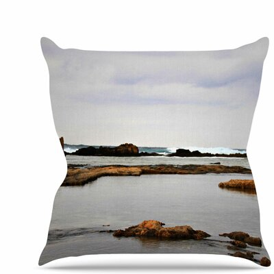 Dark Sea Throw Pillow Size: 16 H x 16 W x 6 D