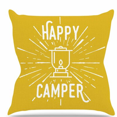 Happy Camper Throw Pillow Size: 18 H x 18 W x 6 D