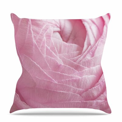 Ranunculus Flower Petals Throw Pillow Size: 16