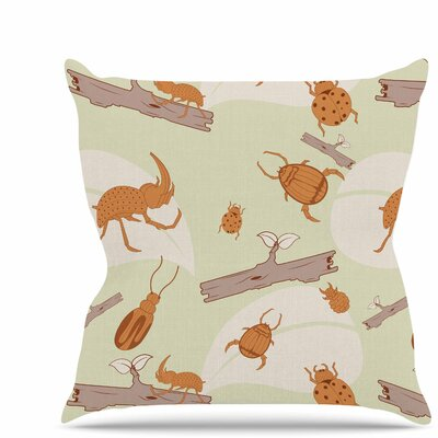 Beetles Throw Pillow Size: 16 H x 16 W x 6 D