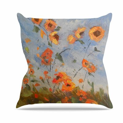 Colorado Kansas Line Throw Pillow Size: 18 H x 18 W x 6 D