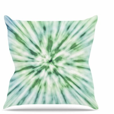 Spring Tie Dye Throw Pillow Size: 20 H x 20 W x 7 D