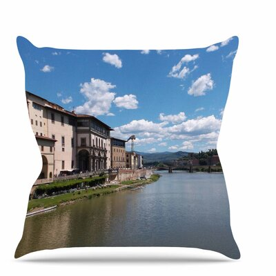 Canals of Italy Throw Pillow Size: 26 H x 26 W x 7 D