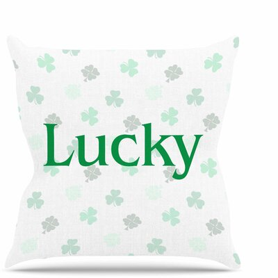 Lucky Shamrocks Throw Pillow Size: 16 H x 16 W x 6 D