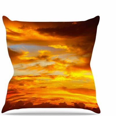 Painted Sunset Throw Pillow Size: 18