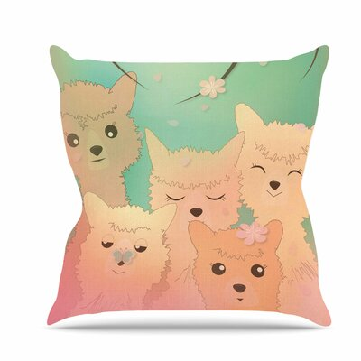 Spring Alpacas Throw Pillow Size: 18 H x 18 W x 6 D
