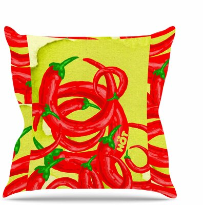 Hot Throw Pillow Size: 18 H x 18 W x 6 D