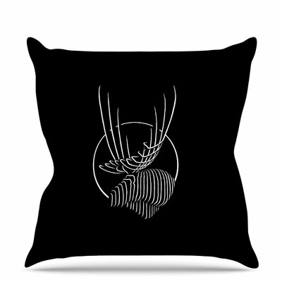 Horns Throw Pillow Size: 16 H x 16 W x 6 D