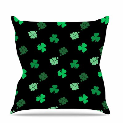 Shamrocks Throw Pillow Size: 26 H x 26 W x 7 D