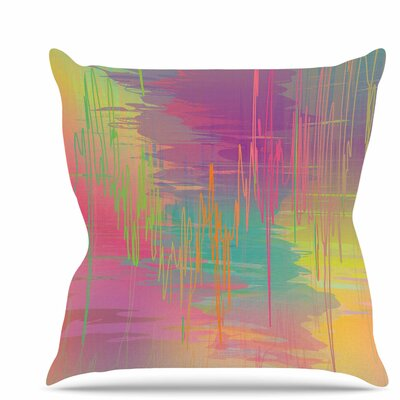 Rainbow Storm Throw Pillow Size: 16 H x 16 W x 6 D