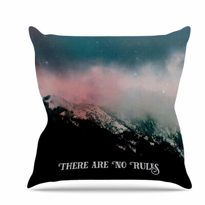 There are No Rules Throw Pillow Size: 16 H x 16 W x 6 D