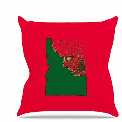 Idaho Zombie Throw Pillow Size: 20 H x 20 W x 7 D