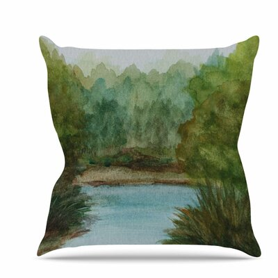 Lake Channel Throw Pillow Size: 18 H x 18 W x 6 D