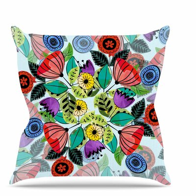 Fresh Spring Flowers Throw Pillow Size: 18 H x 18 W x 6 D