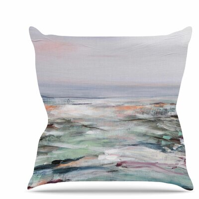 Coastal Scenery Throw Pillow Size: 16 H x 16 W x 6 D