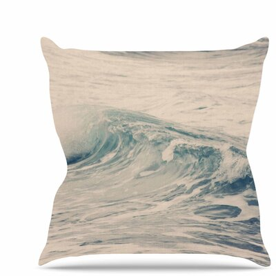 Waves 1 Throw Pillow Size: 26 H x 26 W x 7 D