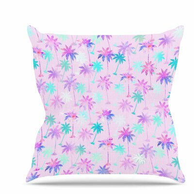 Palm Tree Pattern Throw Pillow Size: 26 H x 26 W x 7 D