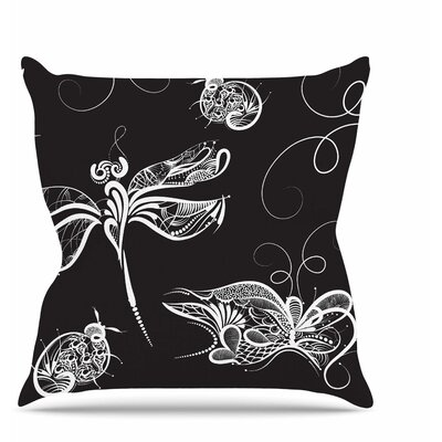 Insects Throw Pillow Size: 18