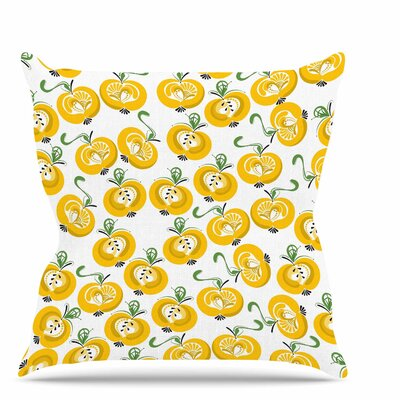 Apple Throw Pillow Size: 16