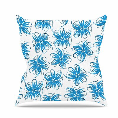 Flower Centaur 1 Throw Pillow Size: 16 H x 16 W x 6 D