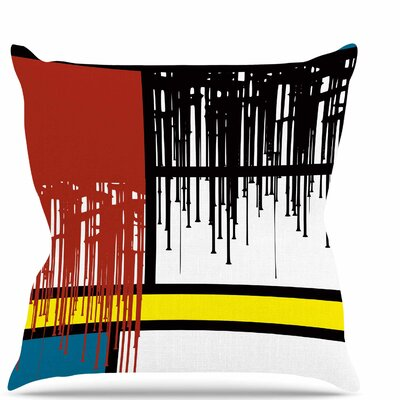 Saint Drips Throw Pillow Size: 18 H x 18 W x 6 D