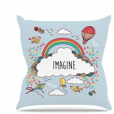 Imagine Throw Pillow Size: 26 H x 26 W x 7 D
