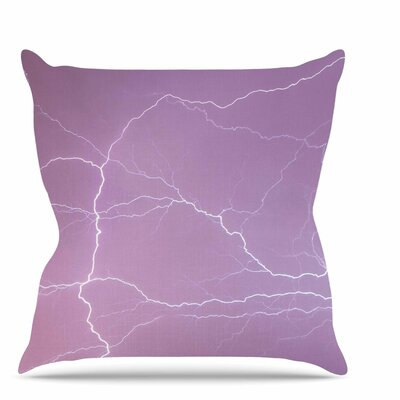 Pastel Lightning Throw Pillow Size: 26 H x 26 W x 7 D