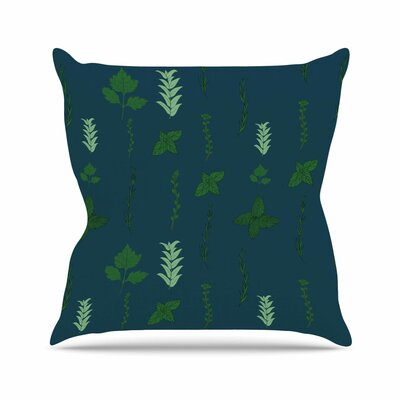 Herb Garden Throw Pillow Size: 26 H x 26 W x 7 D