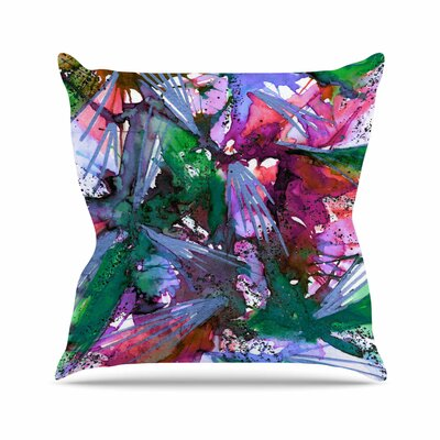 Birds of Prey Throw Pillow Size: 26 H x 26 W x 7 D, Color: Green / Pink