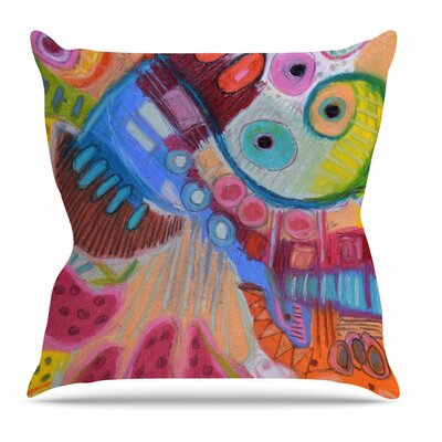 Papaya Dream Throw Pillow Size: 16 H x 16 W x 6 D